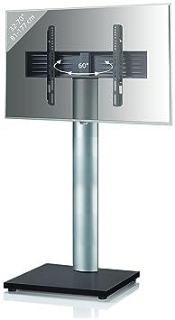 VCM 17021 TV-Standfuß, Metall, schwarzlack, 54 x 68 x 130 cm