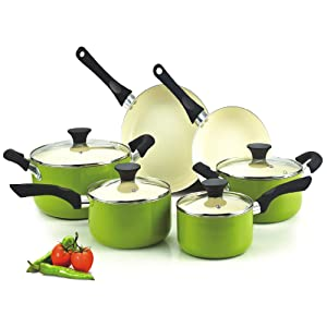 Cook N Home NC-00358 Nonstick Ceramic Coating 10-Piece Cookware set made in USA review