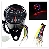 DLLL Universal Motorcycle 12V Dual Odometer Speedometer Gauge LED Backlight Turn Signal Lamp Kit for ATV Honda Yamaha Suzuki Harley Kawasaki Cruisers Harley
