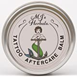 MJ's Herbals Tattoo Aftercare Balm - Two Ounce Concentrate: Organic Herbs and Oils, Salve, Ointment, Moisturizer, Handmade in Brooklyn USA, No Paraben, No Lanolin, No Gluten, No Animal Testing (Color: golden, Tamaño: 2 oz)