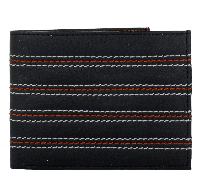 K London Slim Card Coin Pocket Men's Wallet (Black,Orange)(1435_orng) By Amazon @ Rs.249