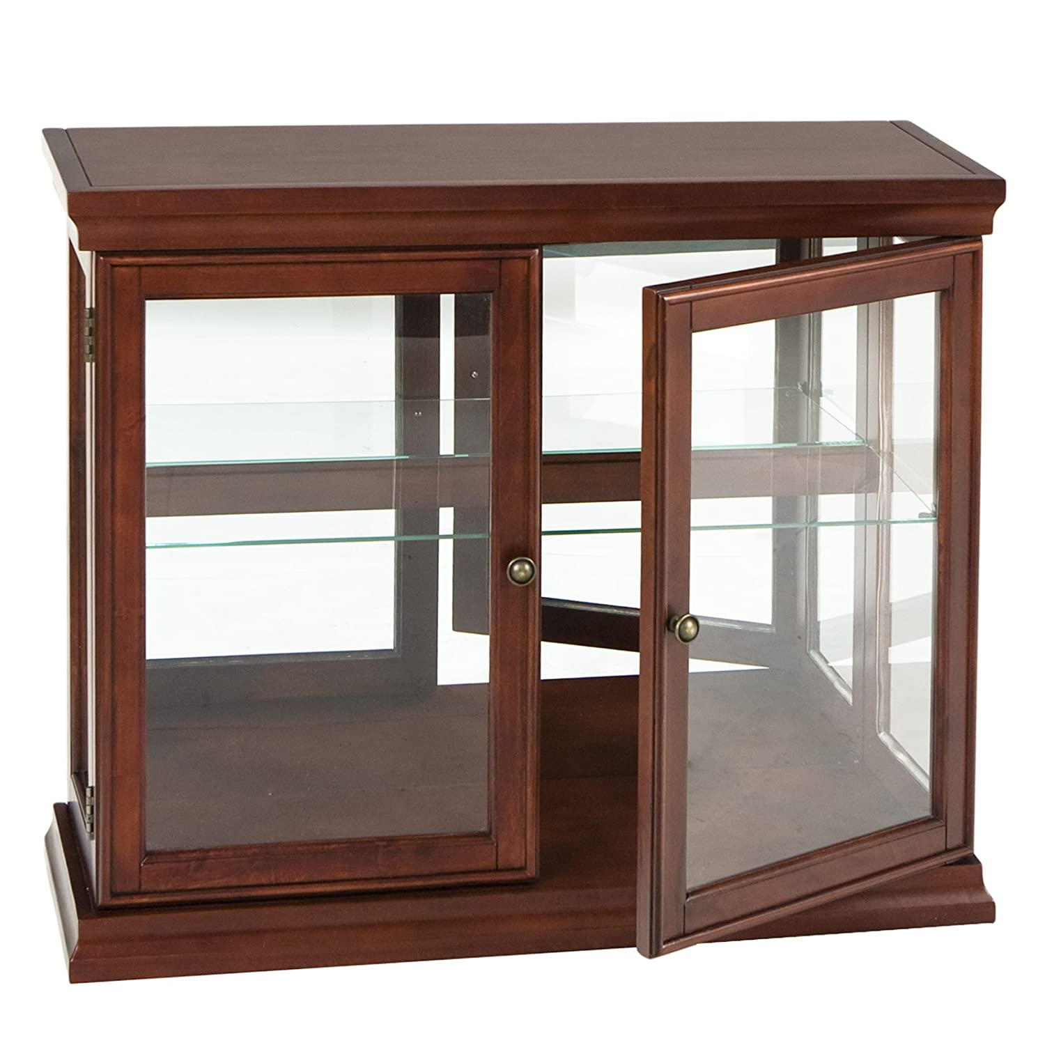 Amazon.com: Glass Door - Curio Cabinets / Living Room Furniture ...