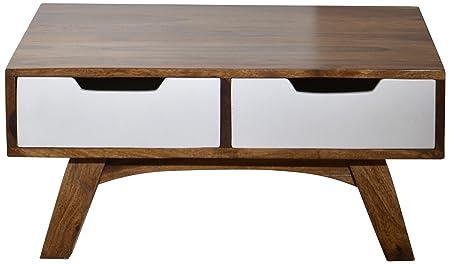 Sit-Möbel 7780-10 centro Sixties, acabado antiguo, 80 x 35 cm, blanco/marrón