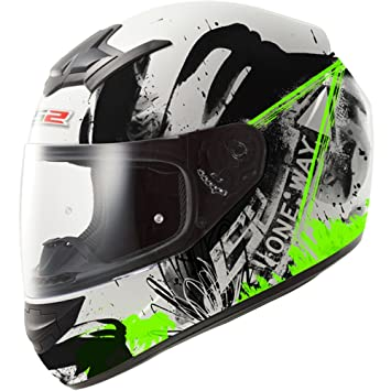 LS2 Casque de moto Ff352 Rookie One noir vert Fluo