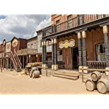 Leowefowa 9X6FT Wild Saloon Backdrop Ancient West Cowboy Backdrops for Photography Rural Countryside Wood House American Culture Photo Background Adults Party Studio Props (Color: color009, Tamaño: 9x6ft)