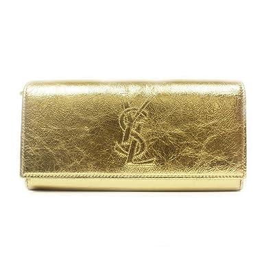 Saint Laurent YSL Belle du Jour Metallic Leather Flap Wallet ...