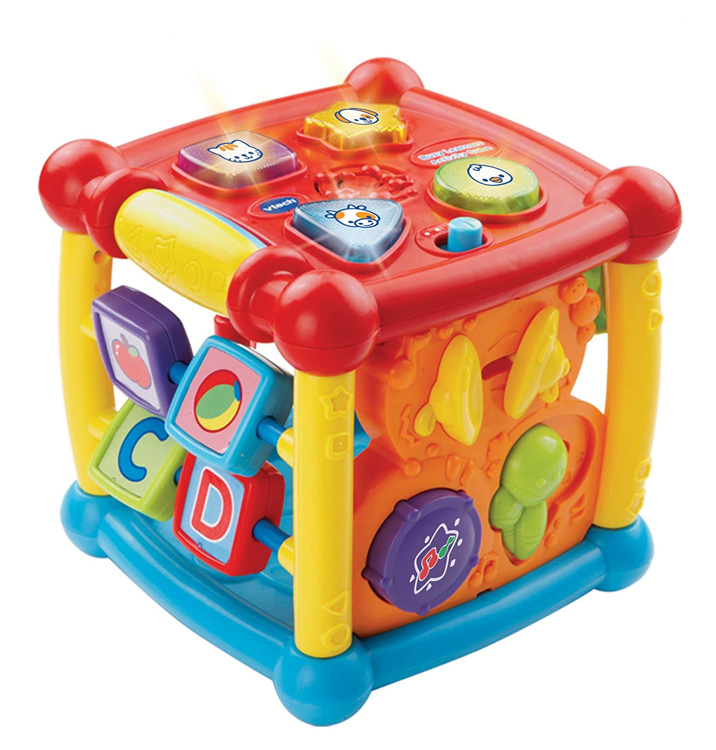 vtech baby activity center cube kids learning toys animal sounds shapes toddler. Black Bedroom Furniture Sets. Home Design Ideas
