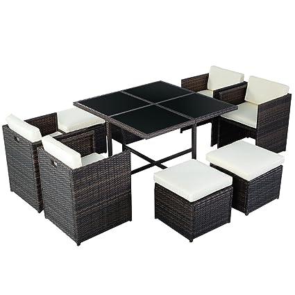 Poly Rattan Rattanset Rattanmöbel Gartenmöbel Lounge Set Sitzgruppe Polyrattan Gartenset max 8er set Garnitur