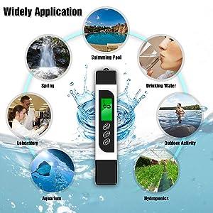 TDS Meter Water Quality Tester,Portable 3 in 1 Water Meter, EC Meter,Temperature Meter, 0-9999 ppm, Ideal Water Test Meter for Drinking Water, Aquariu