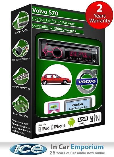 Volvo S70 Autoradio CD MP3 radio play Clarion, iPod, iPhone, Android