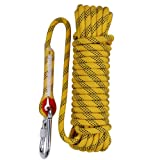 Aoneky 10 mm Static Outdoor Rock Climbing Rope, Fire Escape Safety Rappelling Rope (Yellow 1, 98) (Color: Yellow 1, Tamaño: 10 mm 98 ft)