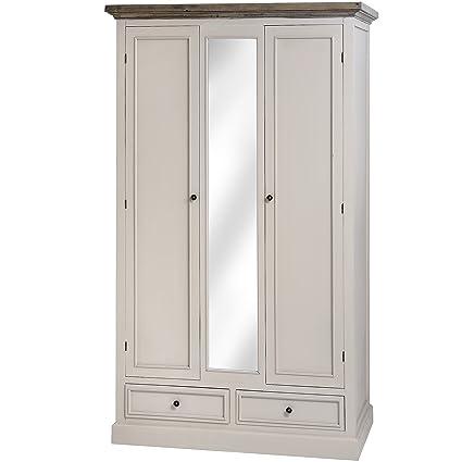 WARM GREY 2 DOOR 2 DRAWER WARDROBE CABINET STORAGE BEDROOM FIELDING (H16237) ** FULL RANGE OF MATCHING FURNITURE IS AVAILABLE **