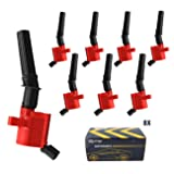 Carrep Red Ignition Spark Plug Coil(8) for Ford Lincoln Mercury 5.4L 6.8L V8 DG508 Coil Pack(dg508, Red)