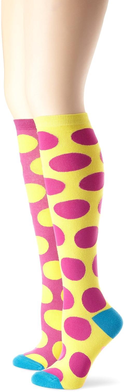 Betsey Johnson Women's Two Tone Dot Knee Socks