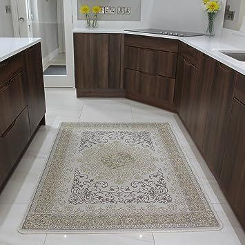 tapis de salon salon cr me classique pas cher tissage plat antid rapant 9. Black Bedroom Furniture Sets. Home Design Ideas