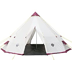 Skandika 16037 Tipii 300 Giant Teepee Tent (Beige/Burgundy)