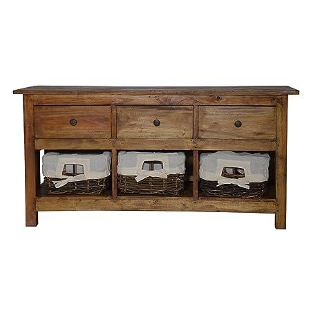 Cestas de ratán mueble para rústico aparador gabinete pecho de cajones país estilo
