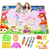 Aqua Magic Doodle Mat 40 X 28 Inches Extra Large Water Drawing Aquadoodle Mat  Kids Baby Toddler Boy Girl Educational Toys for Age 2 3 4 5 6 7 8 9 10 11 12 Year Old