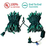 MZD8391 Upgraded 66FT 200 LED Christmas Lights Outdoor String Lights -100% UL Certified- Christmas Tree Lights Decoration for Wedding Party Patio Porch Garden, Warm White (10 Sets CONNECTABLE) (Color: Warm White)