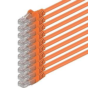 1aTTack - Cable de red UTP con conectores RJ45 (cat. 6) naranja - 10 Unidades  Informática Comentarios de clientes y más información