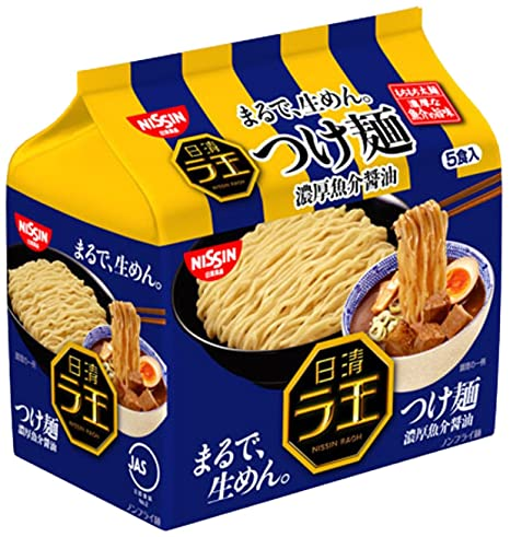 日清ラ王 つけ麺 濃厚魚介醤油 5食P×6個