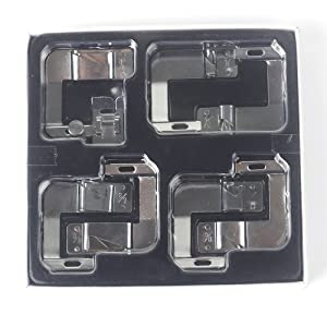 HONEYSEW Rolled Hemmer Presser Foot for Brother Singer Janome Sewing Machine 7pcs in 1 Set (Color: Rolled Hem Foot 7size In Box)