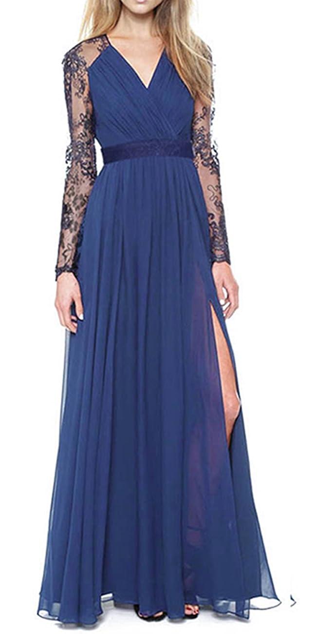 Merope J Women's Casual Deep- V Neck Sleeveless Vintage Maxi Dress 0