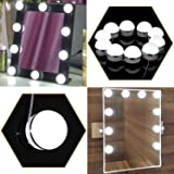 Hollywood Vanity Mirror Light Kit, Kohree Make-up Light, Dimmable Light Bulb Lighting Fixture Strip Makeup Vanity Table Set (10 bulbs Adhesive) for Dressing Room, Dimmer Switch, UL Listed (Color: Semi-Globe)