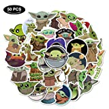 Baby Yoda Stickers,The Mandalorian Star Wars Decal Stickers for Hydro Flask,50 PCS Mandalorian Sticker Withe Yoda Baby Waterproof Vinyl Stickers for Water Bottle Laptop Phone Cup Computer (Color: Baby Yoda)
