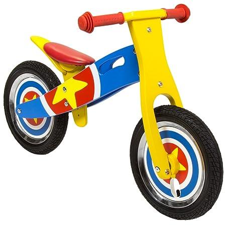Charles Bentley - Draisienne style moto - bois - motif étoile - 3 ans et plus
