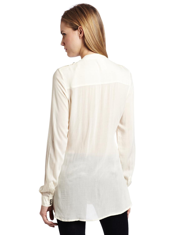 D.E.P.T. Women's Crinkled Blouse花边长袖衫特价25.14刀