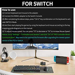 2019 Upgrade Version] IFYOO KMAX1 Keyboard and Mouse Adapter
