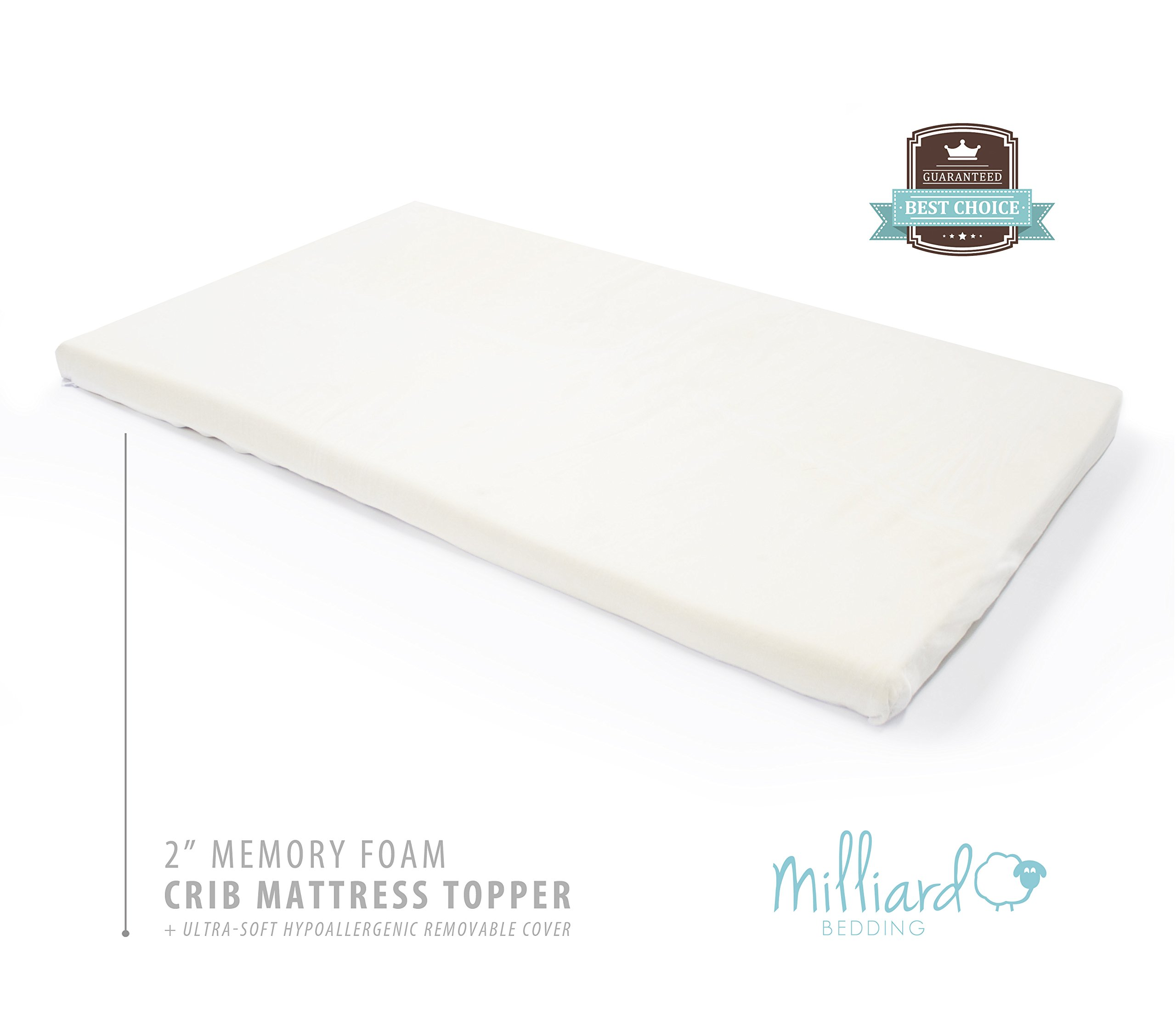 Milliard 2 Inch Ventilated Memory Foam Crib Toddler Bed Mattress Topper With Ebay