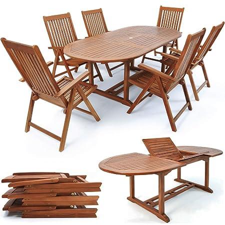 SSITG Sitzgruppe Sitzgarnitur Holz Gartengarnitur Gartenmöbel Klappstuhle
