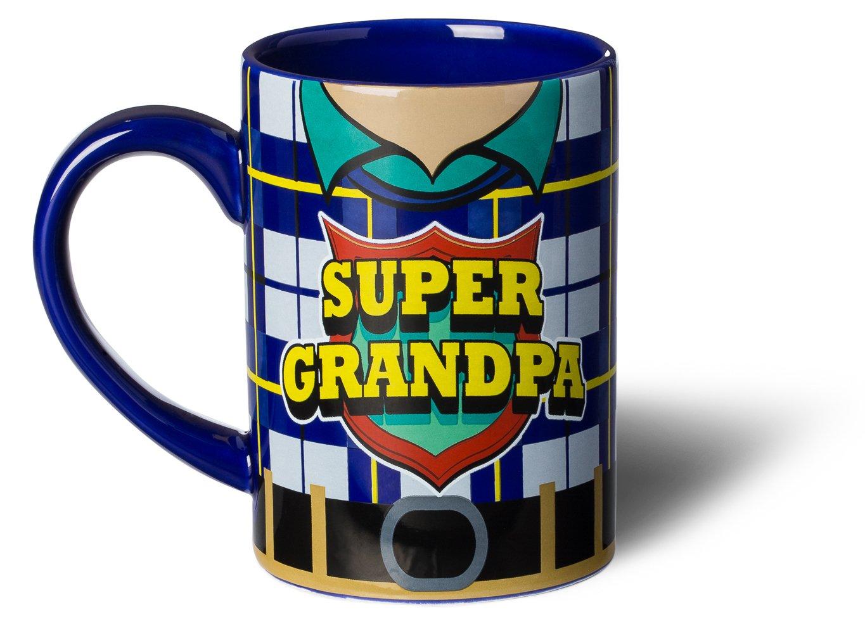 Super Grandpa Superhero Mug grandpa green
