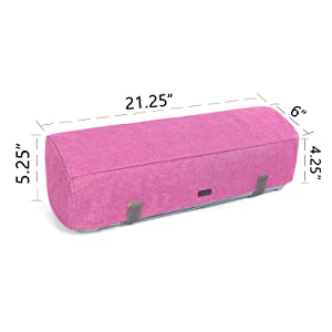Luxja Dust Cover Compatible with Cricut Explore Air and Explore Air 2, Dust Cover with Back Pockets for Accessories, Pink (Color: Pink)