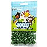 Perler Beads Fuse Beads for Crafts, 1000pcs, Dark Green (Color: Dark Green)