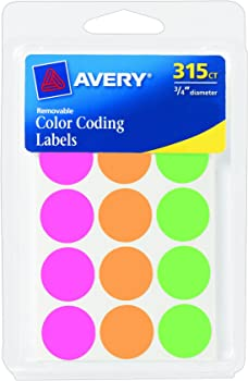 315-Pack Avery Round 0.75
