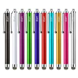 Stylus, iBart Mesh Fiber Tip Series Precision Stylus Pens for Touch Screens Devices, iPhone, iPad, Kindle, Tablet (10 Colors) (Color: Green, Rose, Red, Blue, Gold , White or pink, Black, Silver, Light Blue, Purple, Tamaño: 4.5 Inches)
