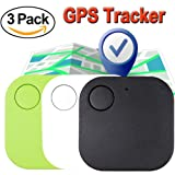 Xenzy 3 Pack Bluetooth GPS Tracker Anti lost Locator Key Finder Pet Dog Cat Child Wallet Bag Phone GPS Tracker Mini Locator Alarm Patch Wireless Seeker Selfie Remote Shutter for Mothers Day Gift