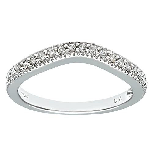 Naava 9ct White Gold 0.20ct Diamond Shaped Eternity Ring