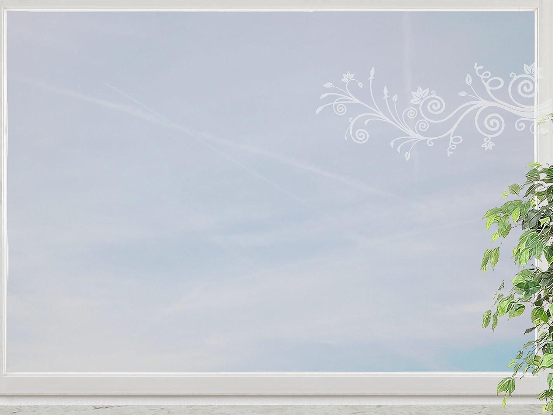 wandfabrik – Fenstersticker Ranke Blumenranken Motiv 30cm – frosty – 798 – (Xt) jetzt kaufen
