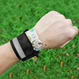 eBuyGB Reflective Sports Wristband/Wrist Wallet with Zipper (Color: Black)