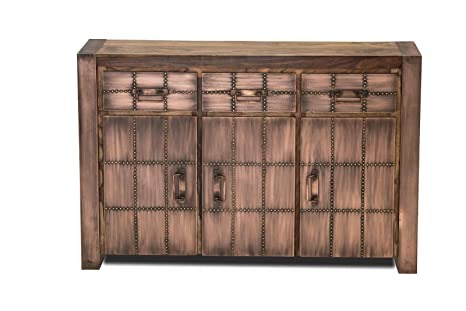 SIT-Moebel A sideboard AKKON from massivholz with 3 doors
