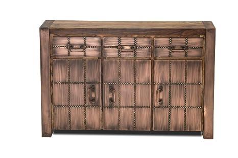 SIT-Moebel A sideboard AKKON from massivholz with 3 doors