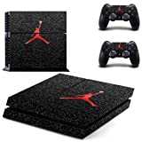 MagicSkin Vinyl Skin Sticker Cover Decal for Playstation 4 PS4 Console and Remote Controllers (Color: A)