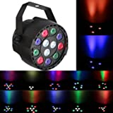 Rainiers 12W Led Uplight RGBW PAR Light Mini 12 LEDs 8 Channel DMX512 Colorful Wall Wash for KTV, Bar, Wedding, Festival Party …