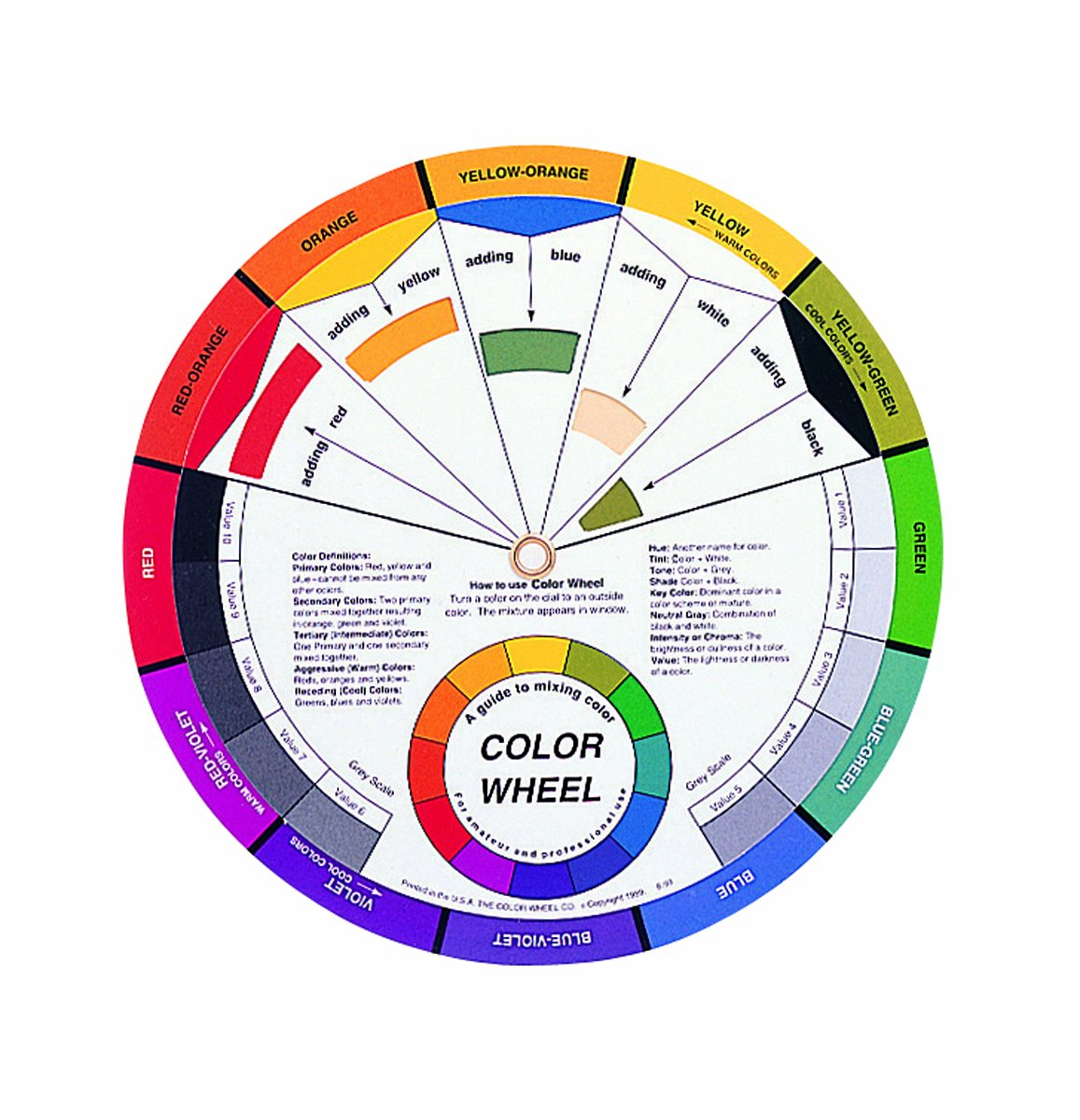 Color Wheel Small Color Mixing Guide