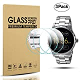 Diruite 3-Pack for Fossil Q Marshal Gen 2 Smart Watch Tempered Glass Screen Protector [Anti-Scratch] [Perfectly Fit] [Optimized version] - Permanent Warranty Replacement (Color: clear)