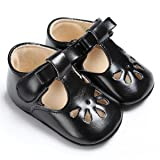 BENHERO Baby Girls Soft Sole Bowknot Mary Jane Princess Shoes (Infant) (6-12 Monthes/4.72inch, 1560 Black)